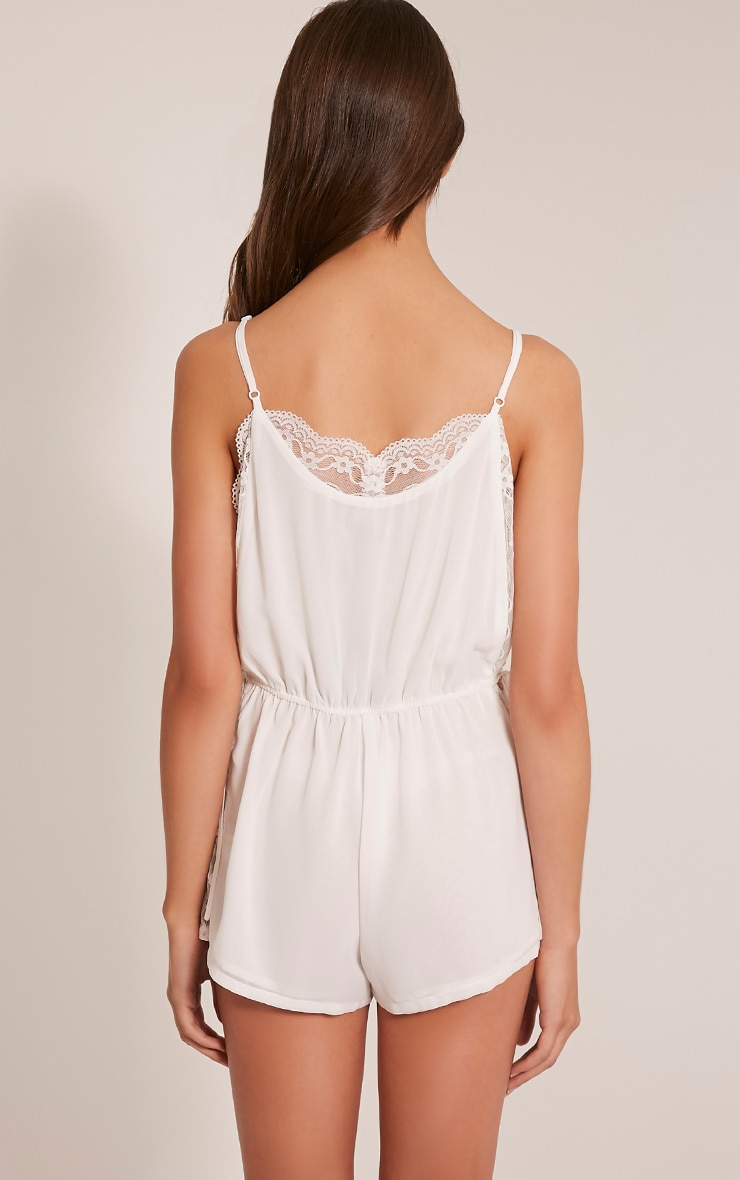 Shiela White Lace Insert Playsuit 2