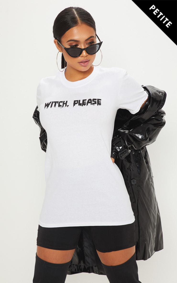 Petite Witch Please White T-Shirt