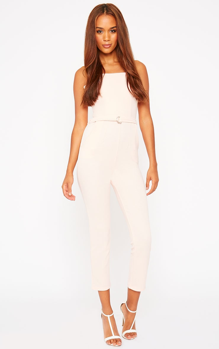 Zelda Nude D-Ring Belt Jumpsuit 1