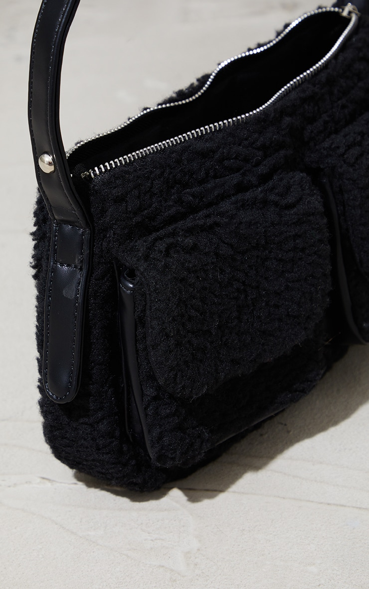 Black Borg Multi Pocket Shoulder Bag 3