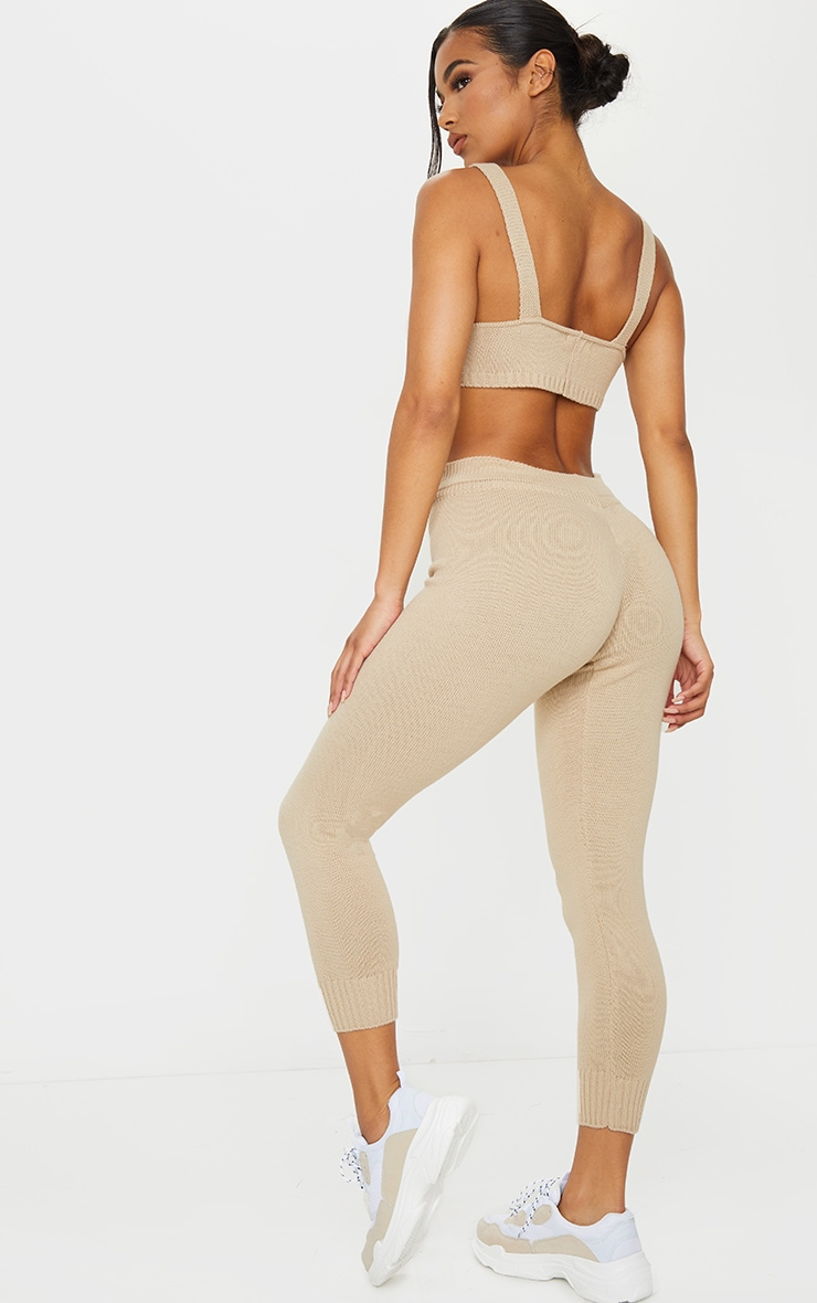 Stone Knitted Bralet And Jogger Set 2