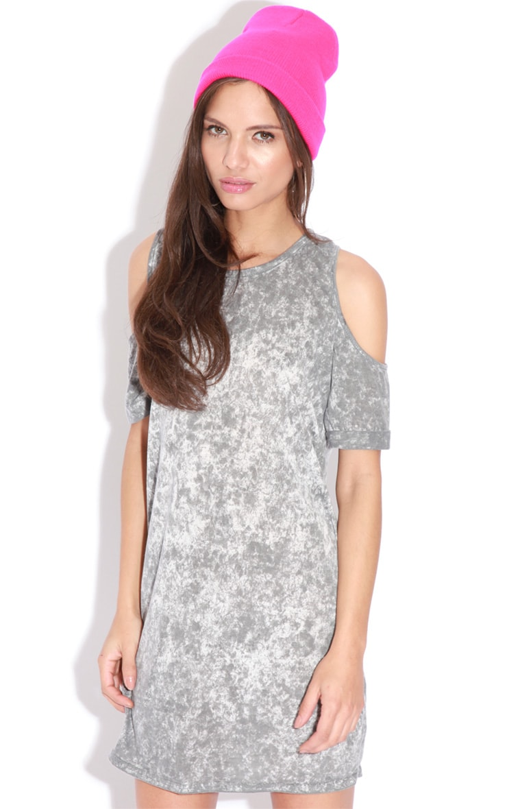 Tina Grey Tie Dye Shoulder Dress 1