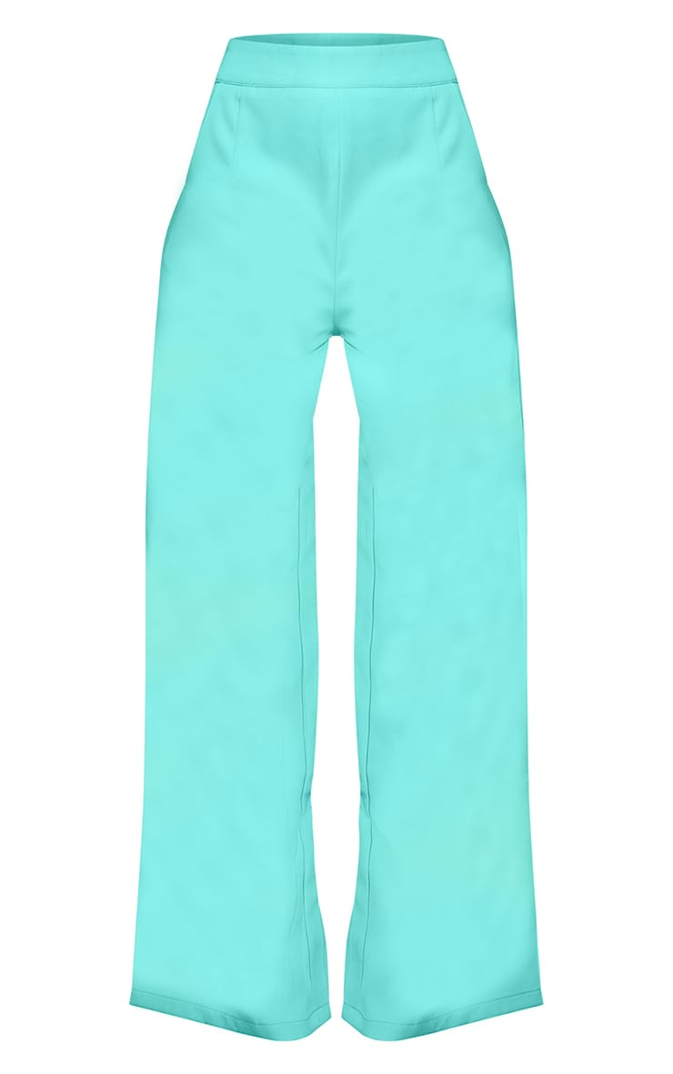 Teal Tailored Wide Leg Pants 5