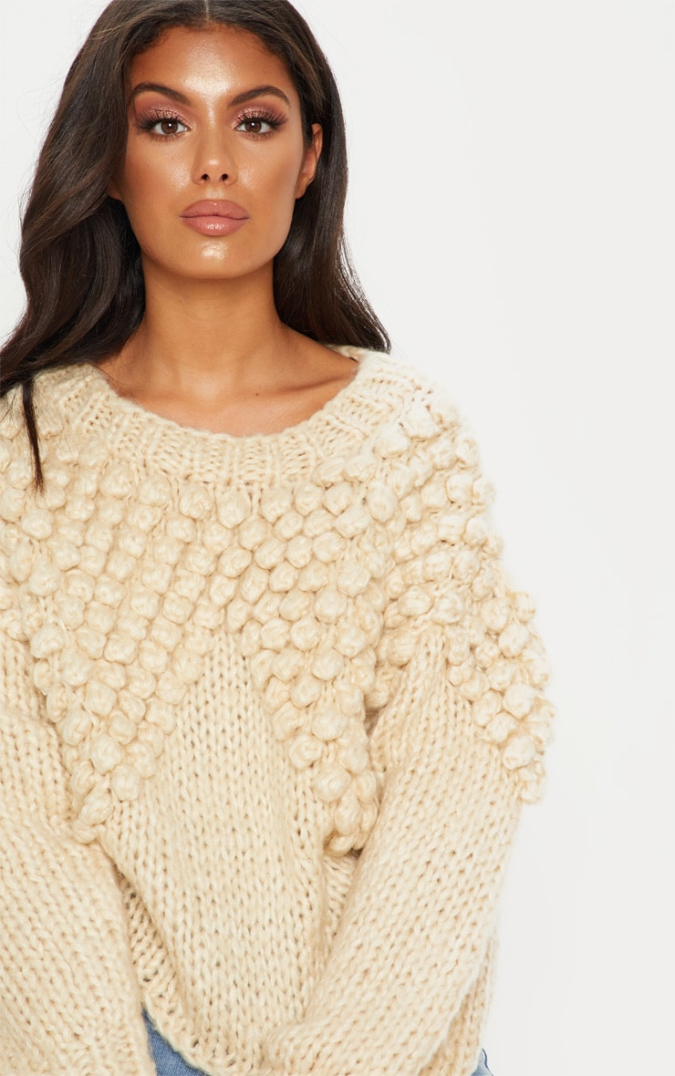 Stone Bobble Knit Sweater 5