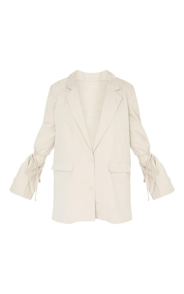 Stone Tie Cuff Pocket Detail Blazer Dress 5