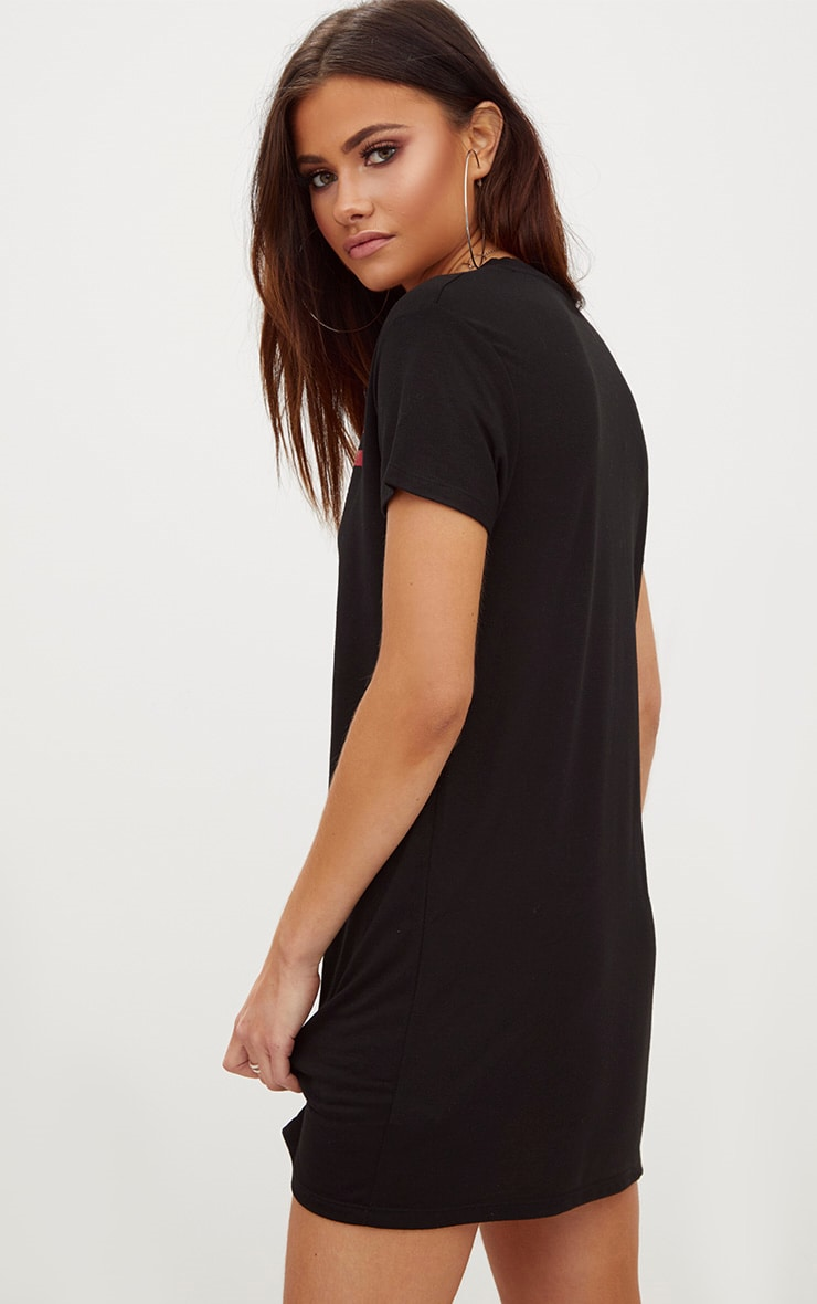 Reign Black T Shirt Dress 2