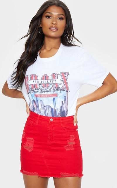 98787c7b16 Denim Skirts | Black, White & Red Denim Skirts | PrettyLittleThing
