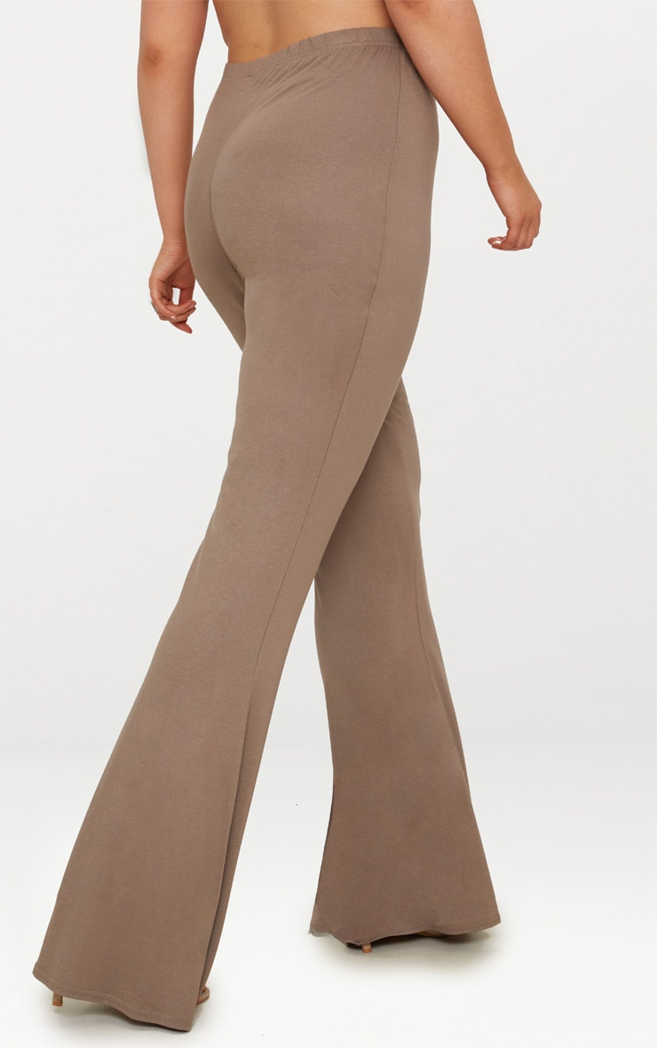 Plus Mocha Basic Flared Trousers 4