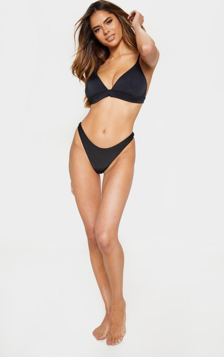Black Mix And Match Fuller Bust Triangle Bikini Top 3