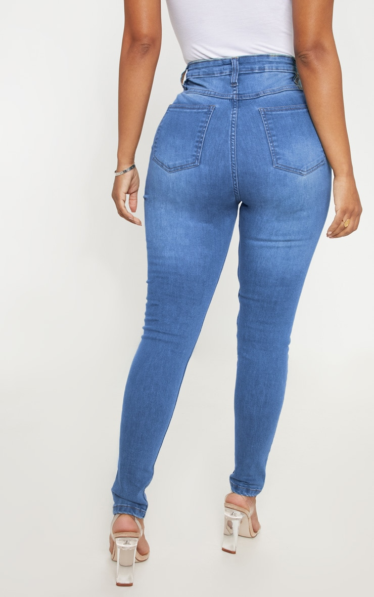 Shape Light Wash High Waist Skinny Jean 4
