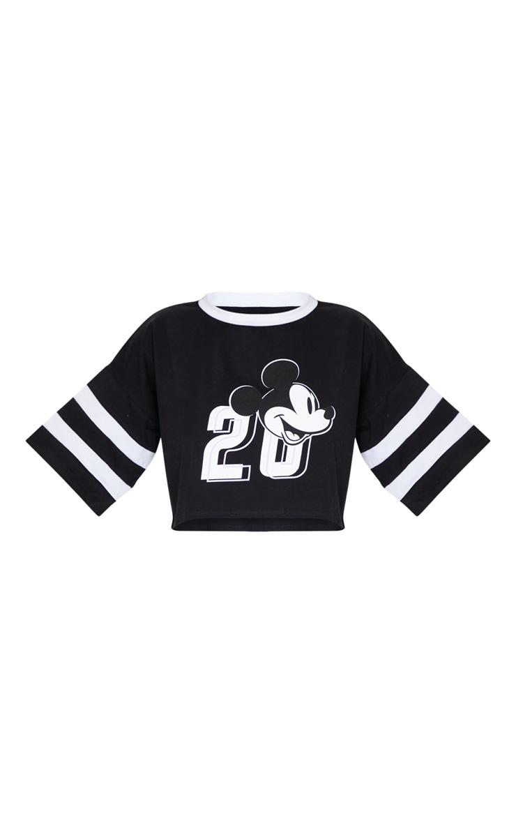 Black Disney Mickey Mouse Crop T Shirt 5