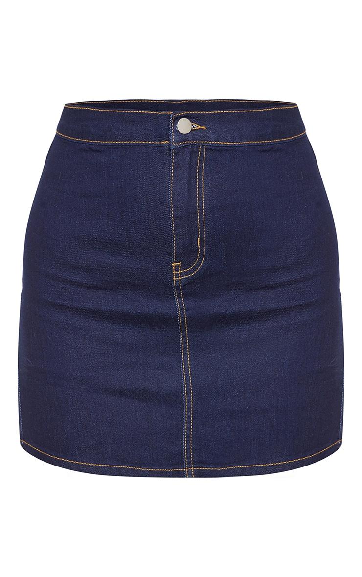 Dark Wash Disco Fit Denim Skirt  3