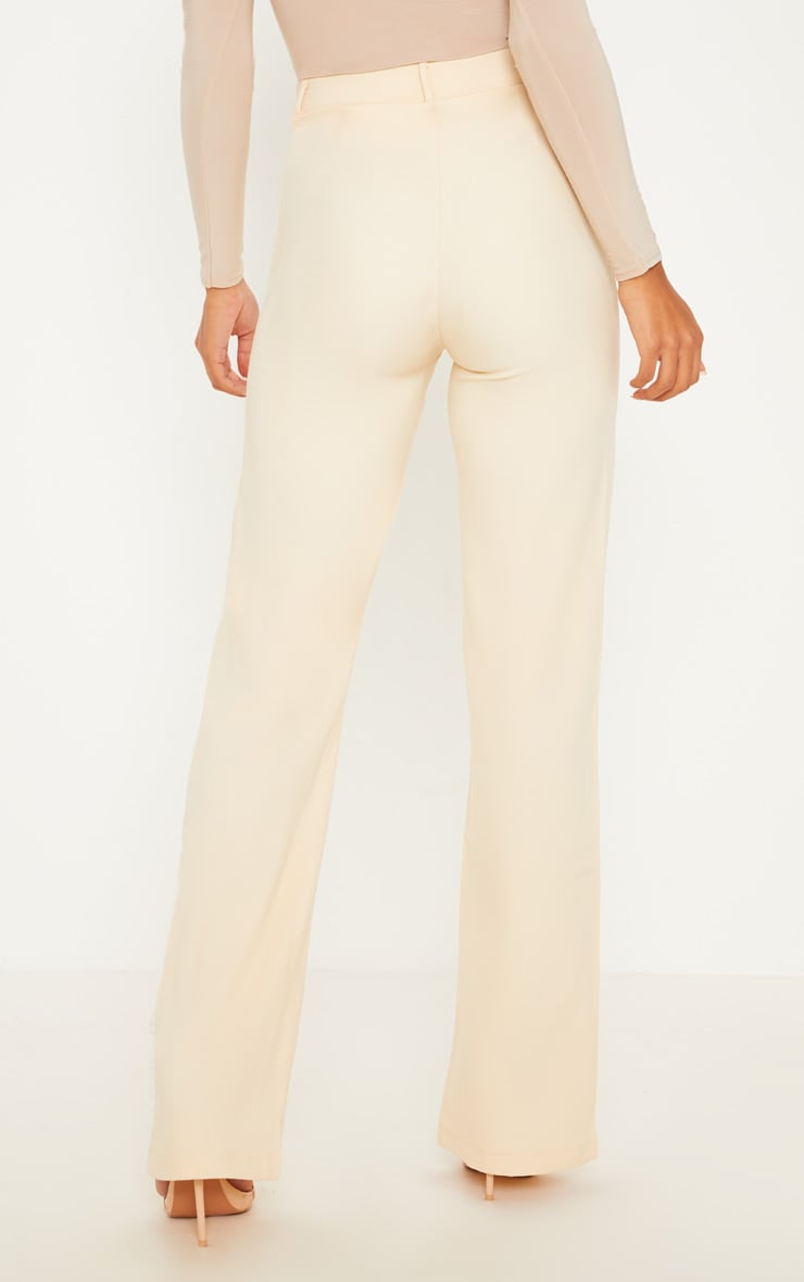 Anala Champagne High Waisted Straight Leg Trousers 4