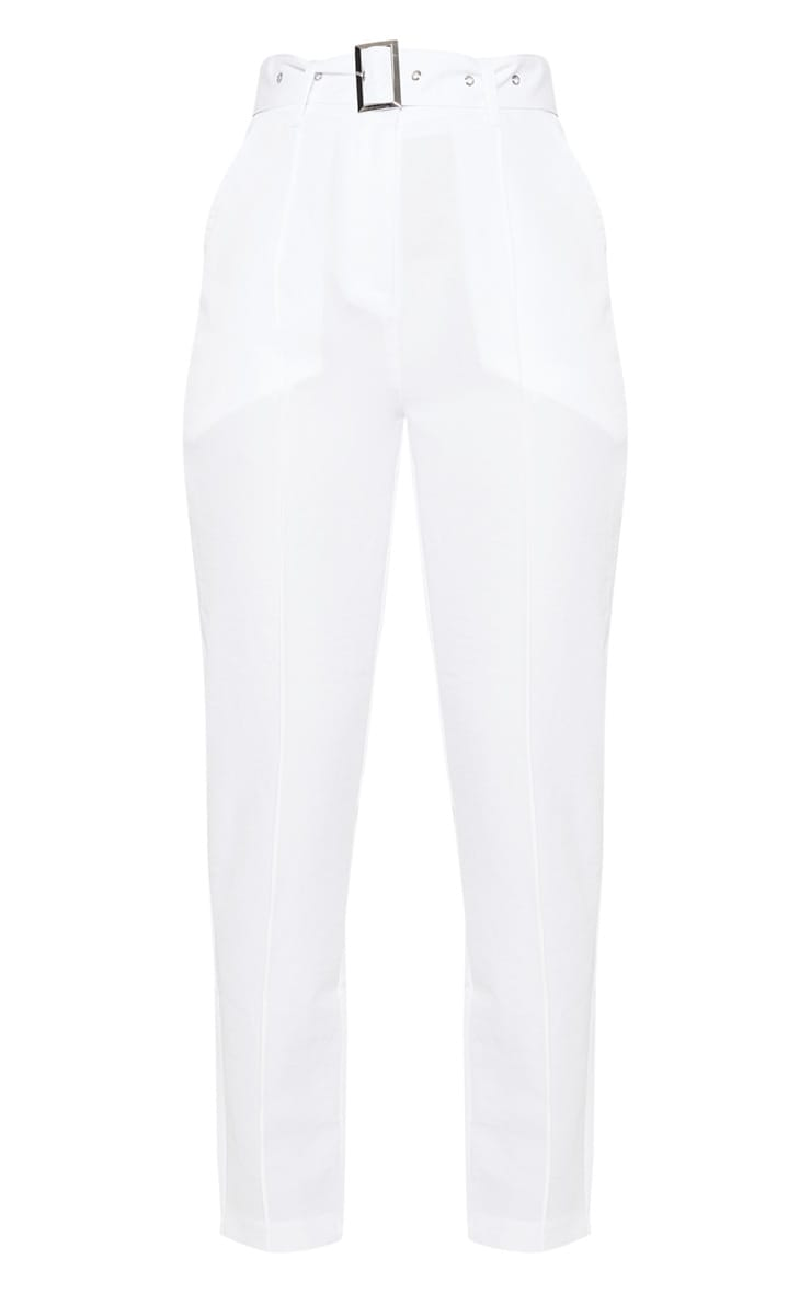 White Belted Tailored Trouser 3