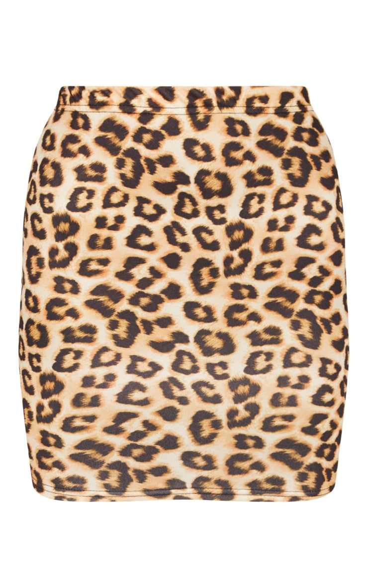 Brown Leopard Skirt  3