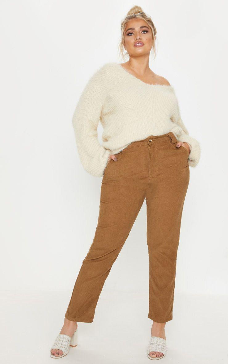 Plus Brown Corduroy Pants 1