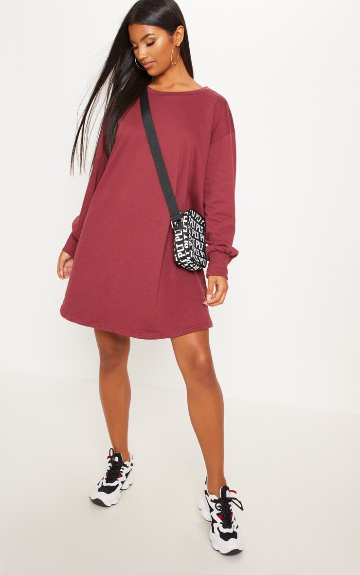 Sianna Burgundy Oversized Sweater Dress 4