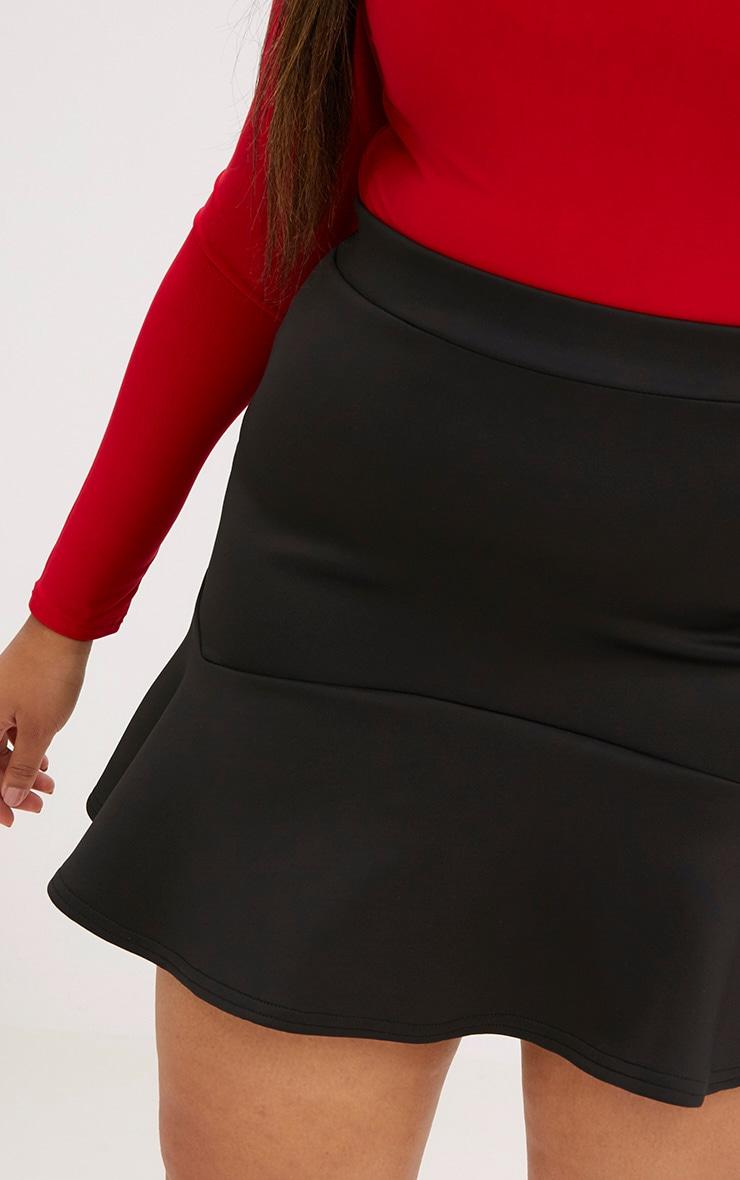 Plus Black Flippy Hem Skirt 5