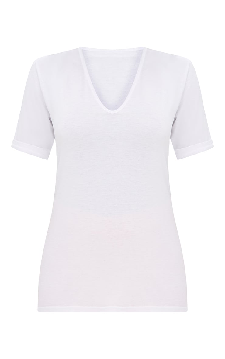 Shape White V Neck Tshirt 3