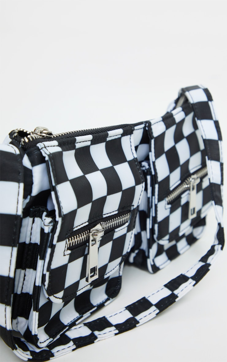 Black Checkerboard Shoulder Bag 3