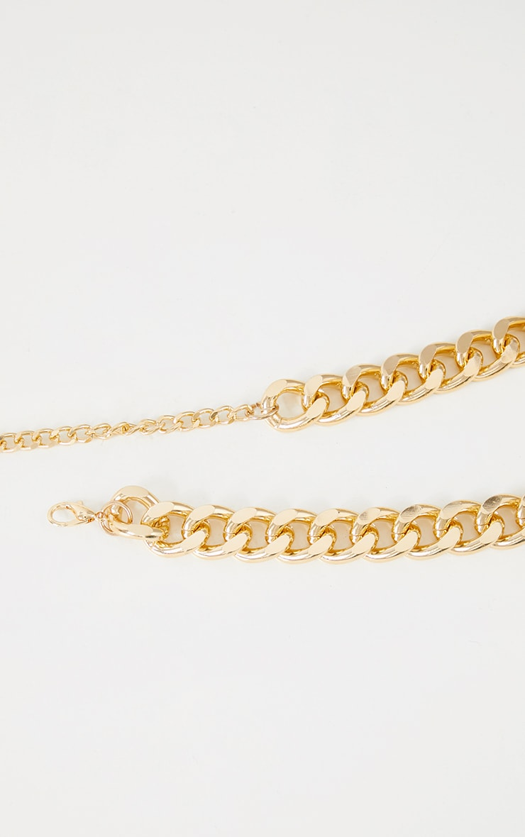 Gold Chunky Thick Chain Belt 3