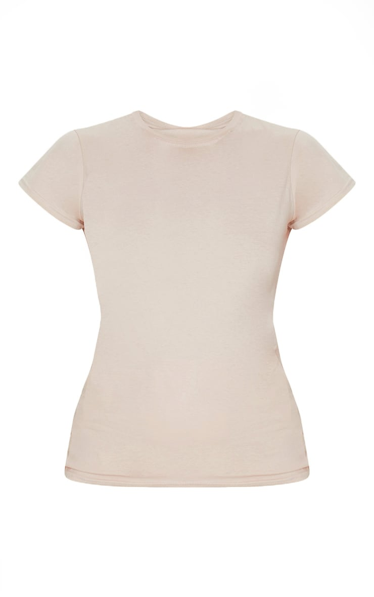 Tee-shirt simple cintré nude 5