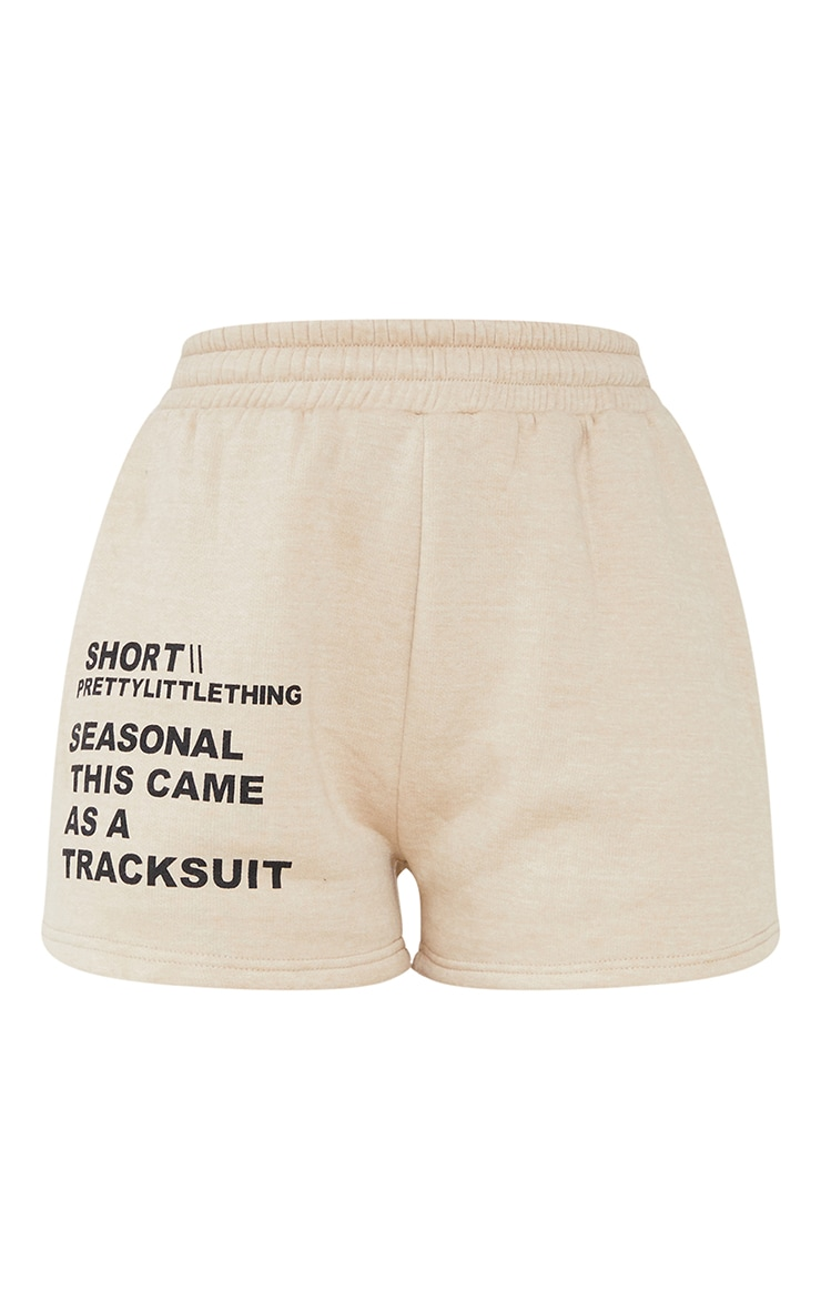 PRETTYLITTLETHING Recycled Stone Printed Sweat Shorts 6