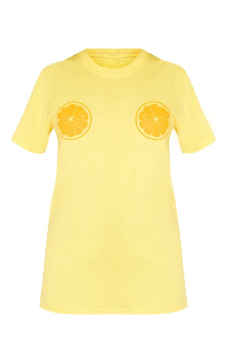 Petite Yellow Orange Printed Tee 3