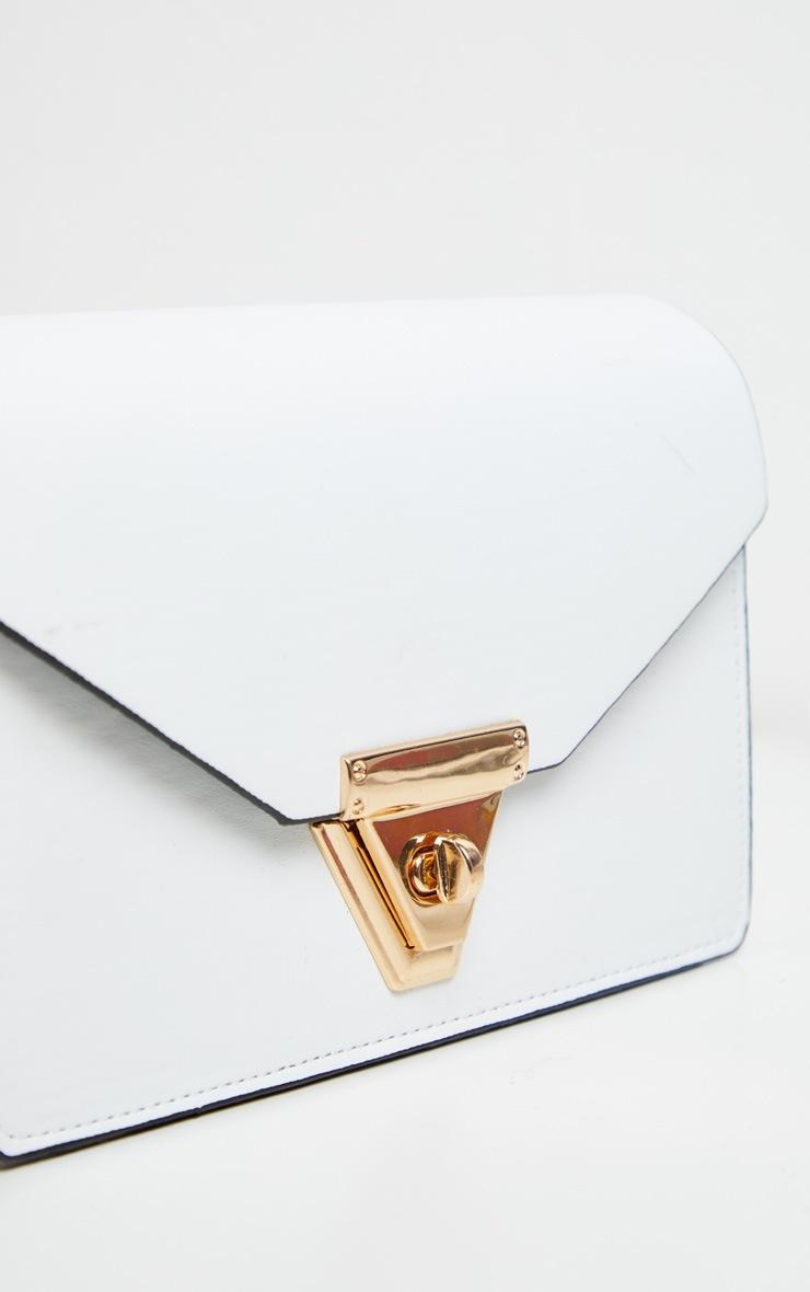 White PU Envelope Cross Body Bag 3
