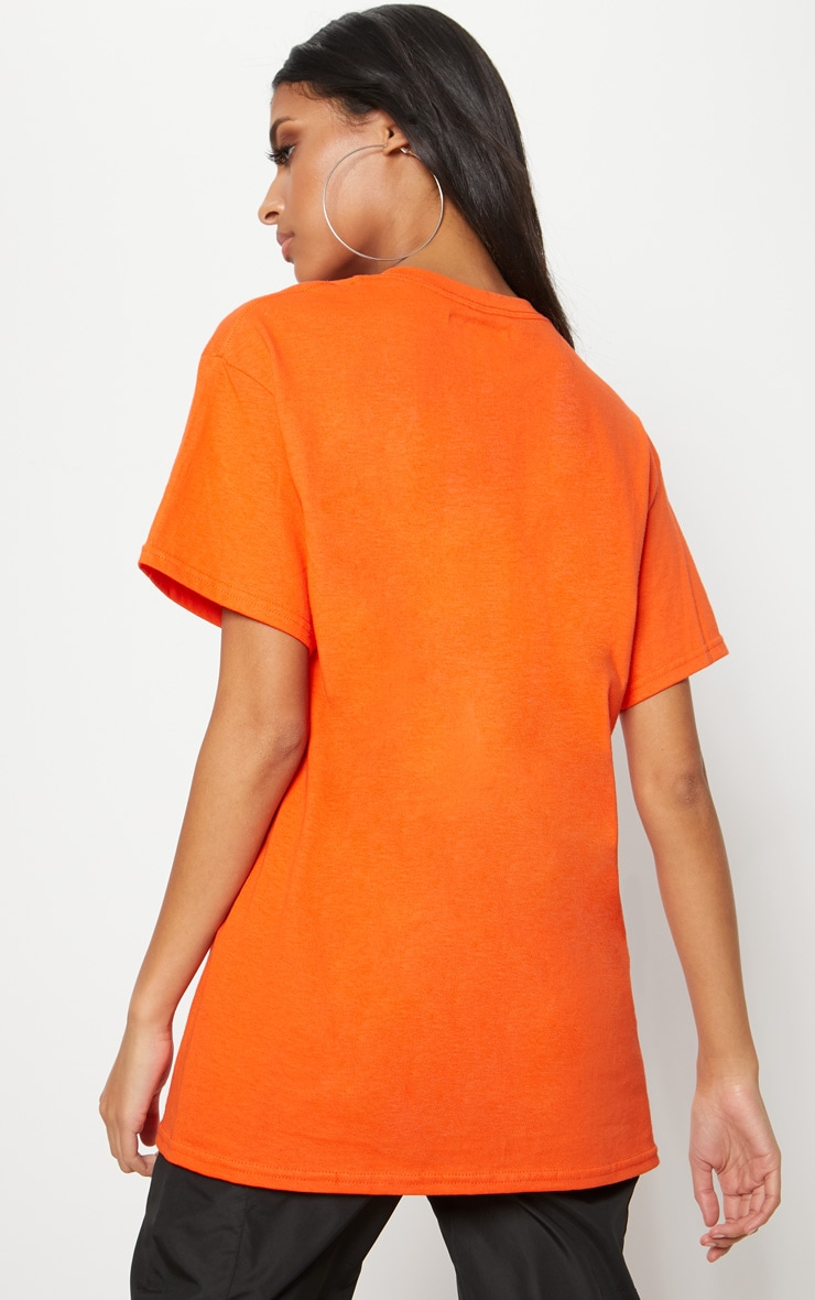 Tangerine Overdressed Slogan Oversized T Shirt 2