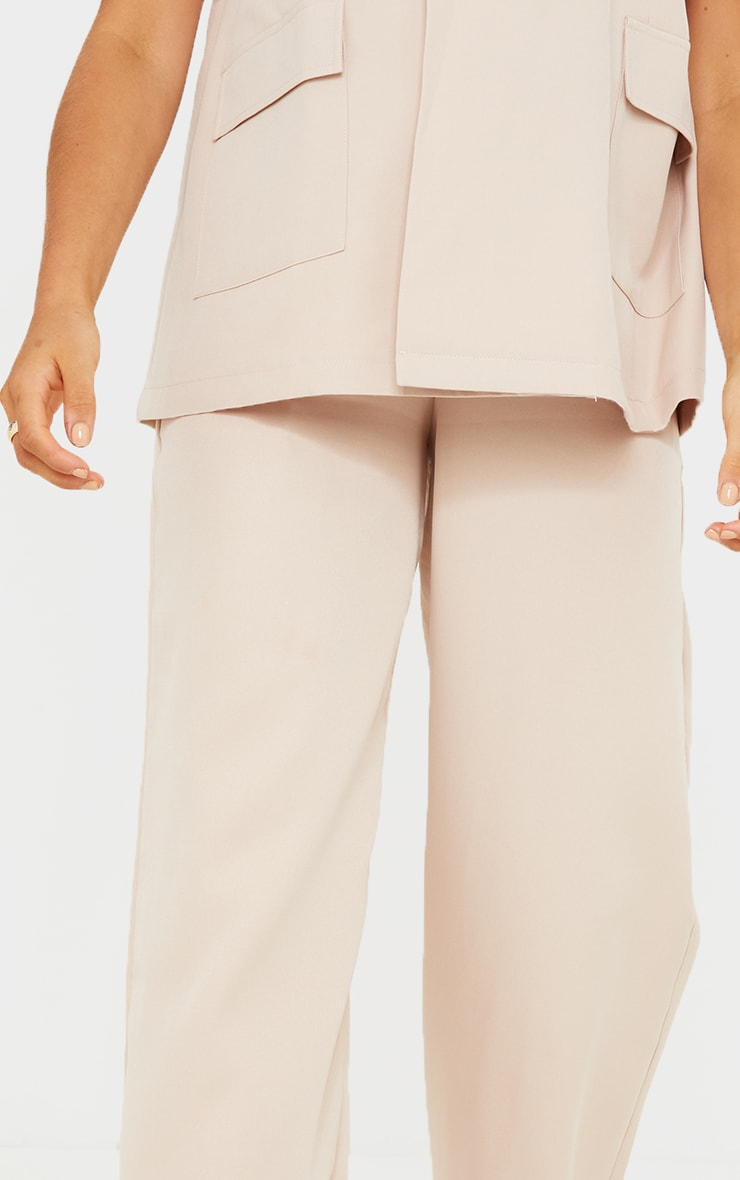 Maternity Cream Belly Band Suit Trousers 4