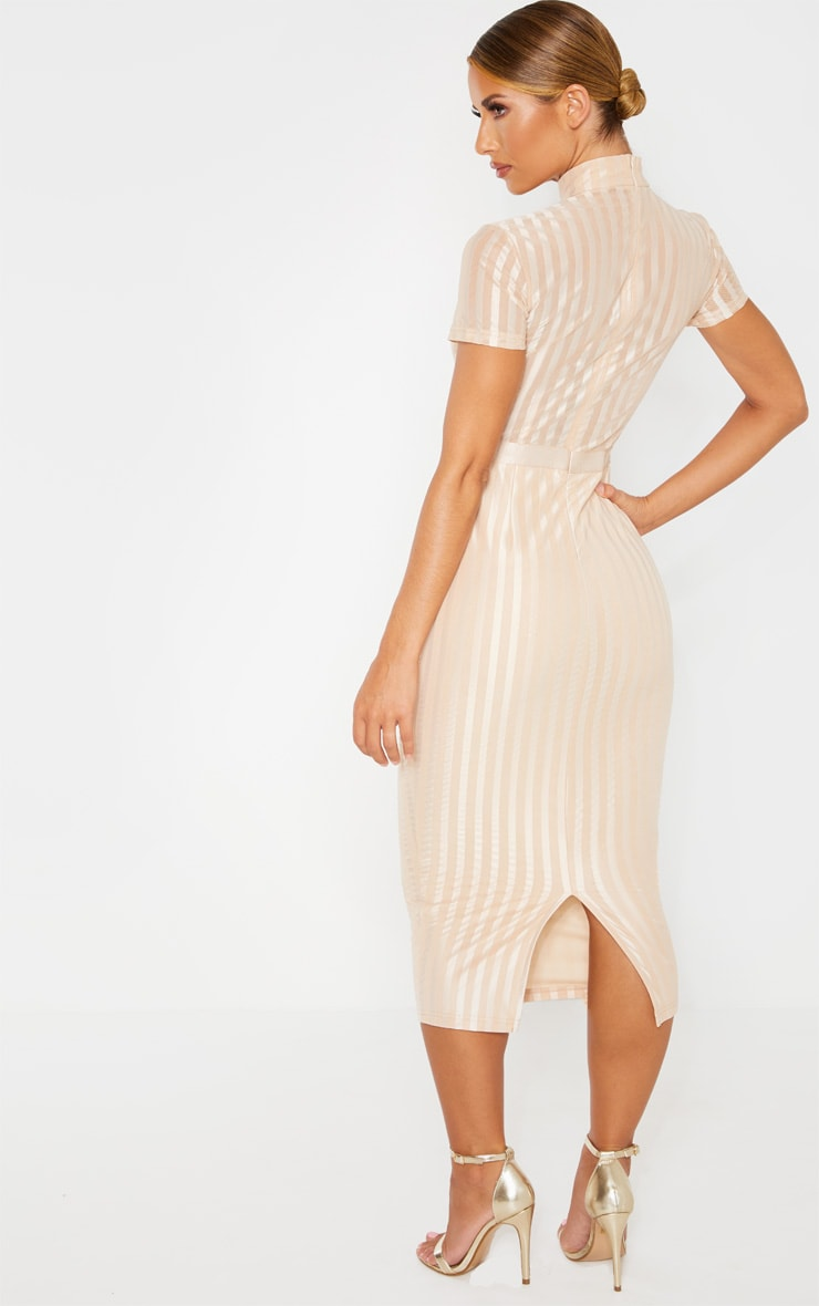 Stone Lined Short Sleeve Midi Dress 2