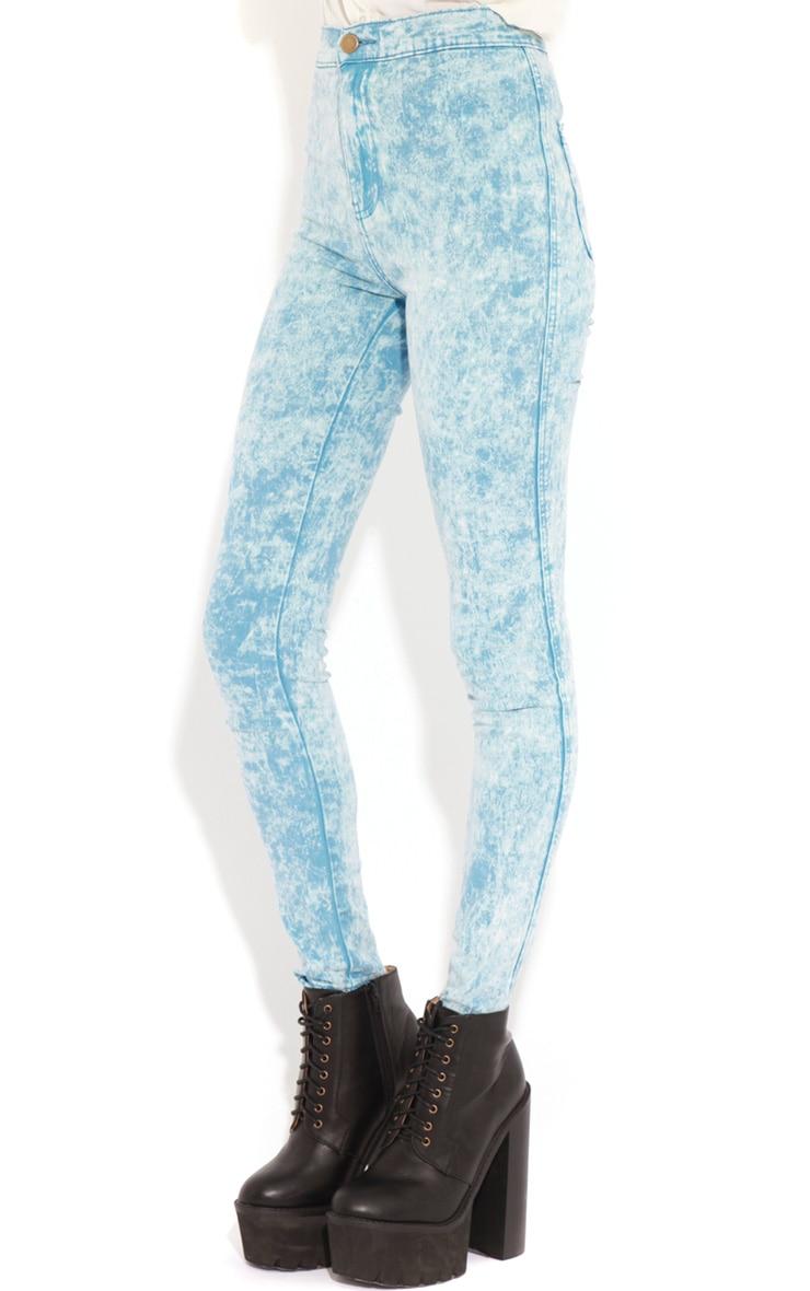 Annie Blue Acid Wash Skinny Jeans 3