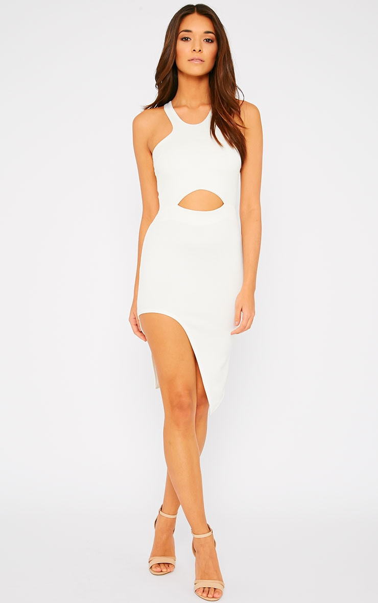 Sydney Cream Cut Out Curve Split Dress 1