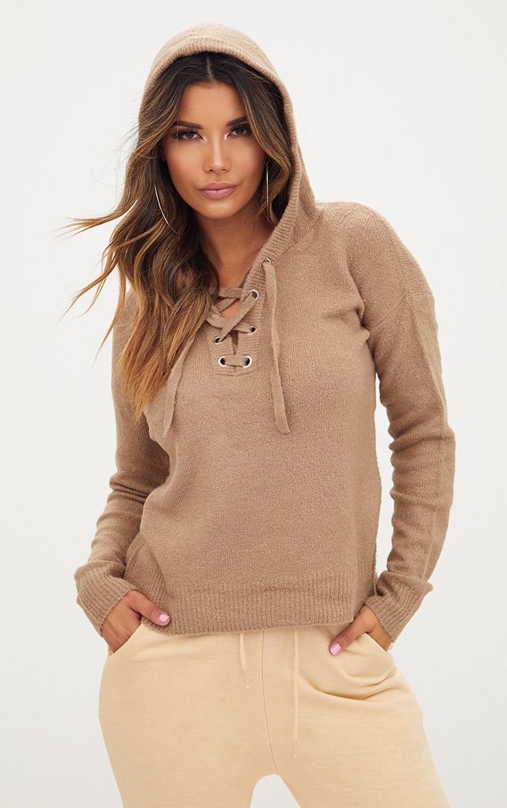 Stone Knitted Hoodie 2