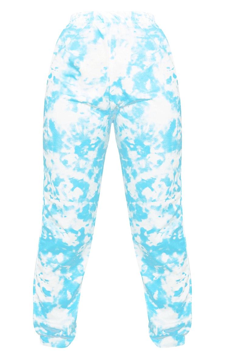 Blue Tie Dye Casual Sweatpants 5