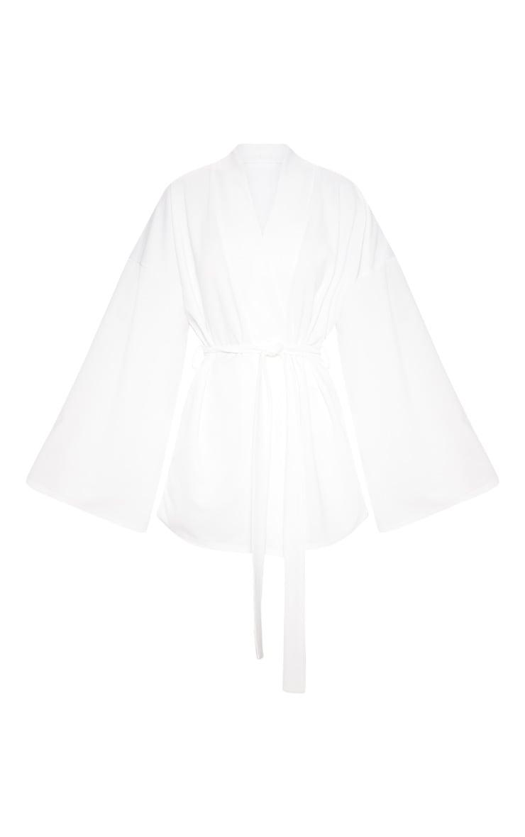 White Waist Tie Playsuit 3