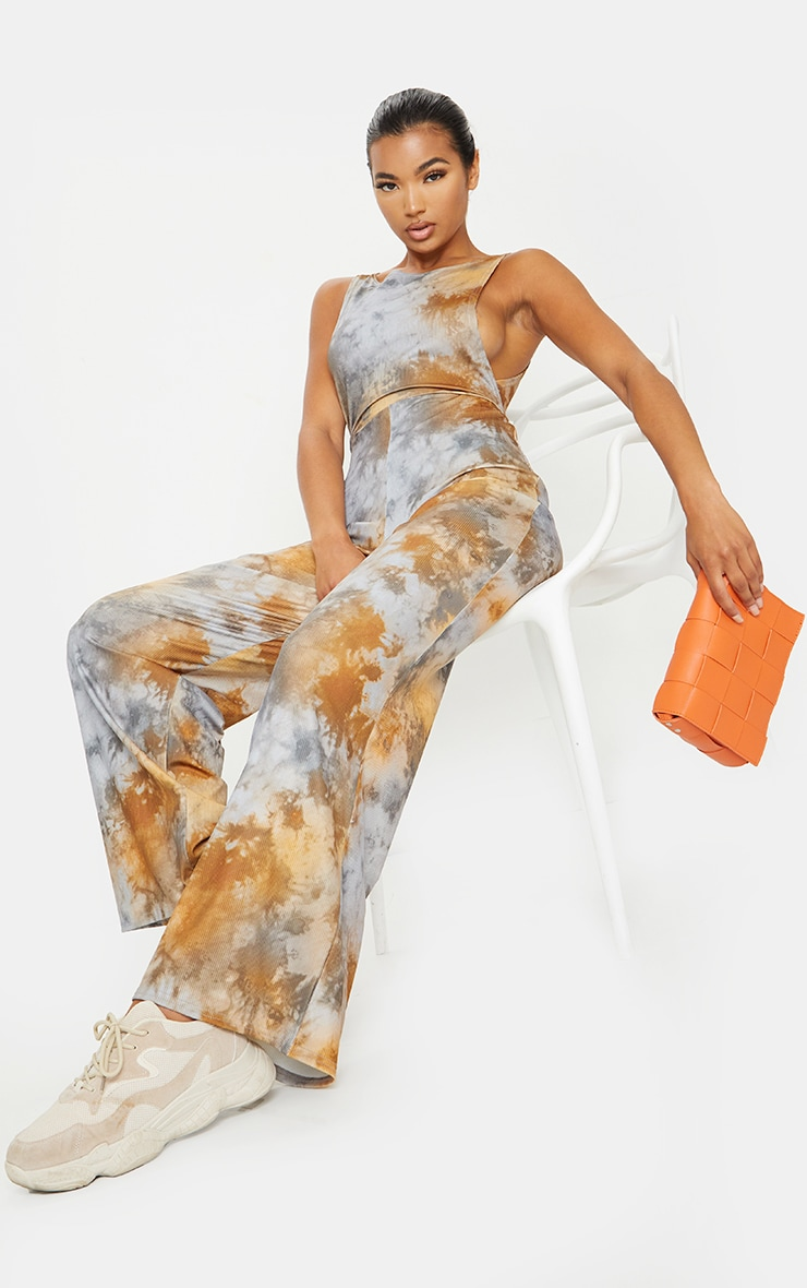 Multi Tie Dye Side Boob Jumpsuit 1