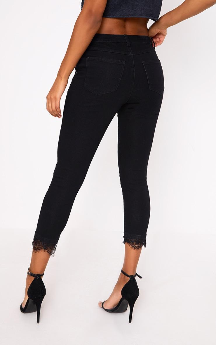 Raelynn Black Lace Trim Skinny Jean 4