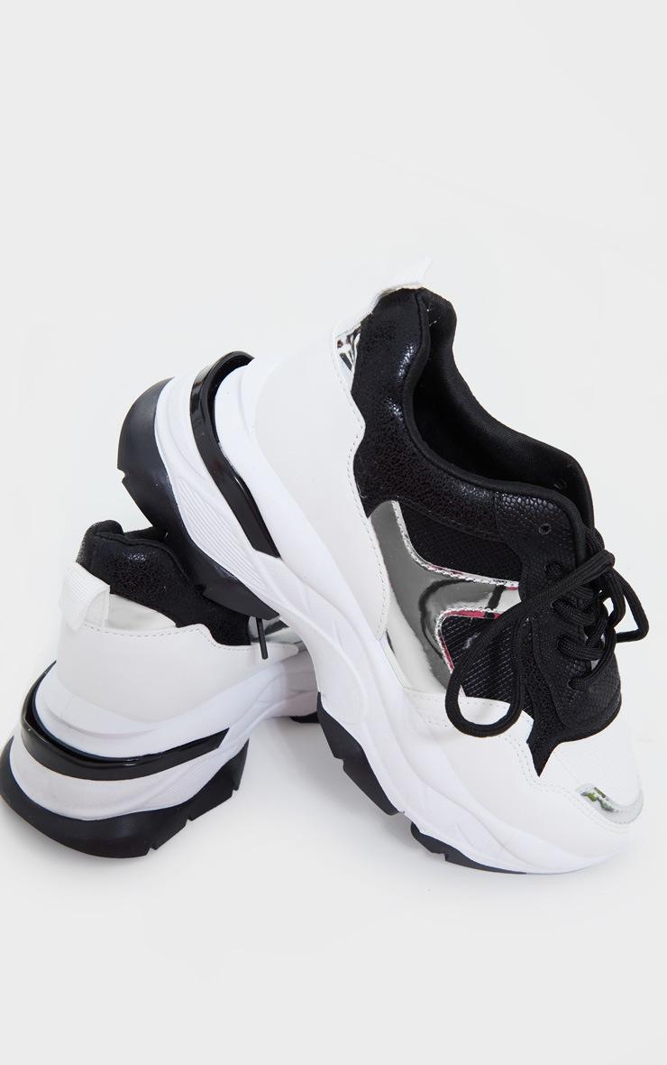 Mono Rubber Contrast Sole Sneakers 3