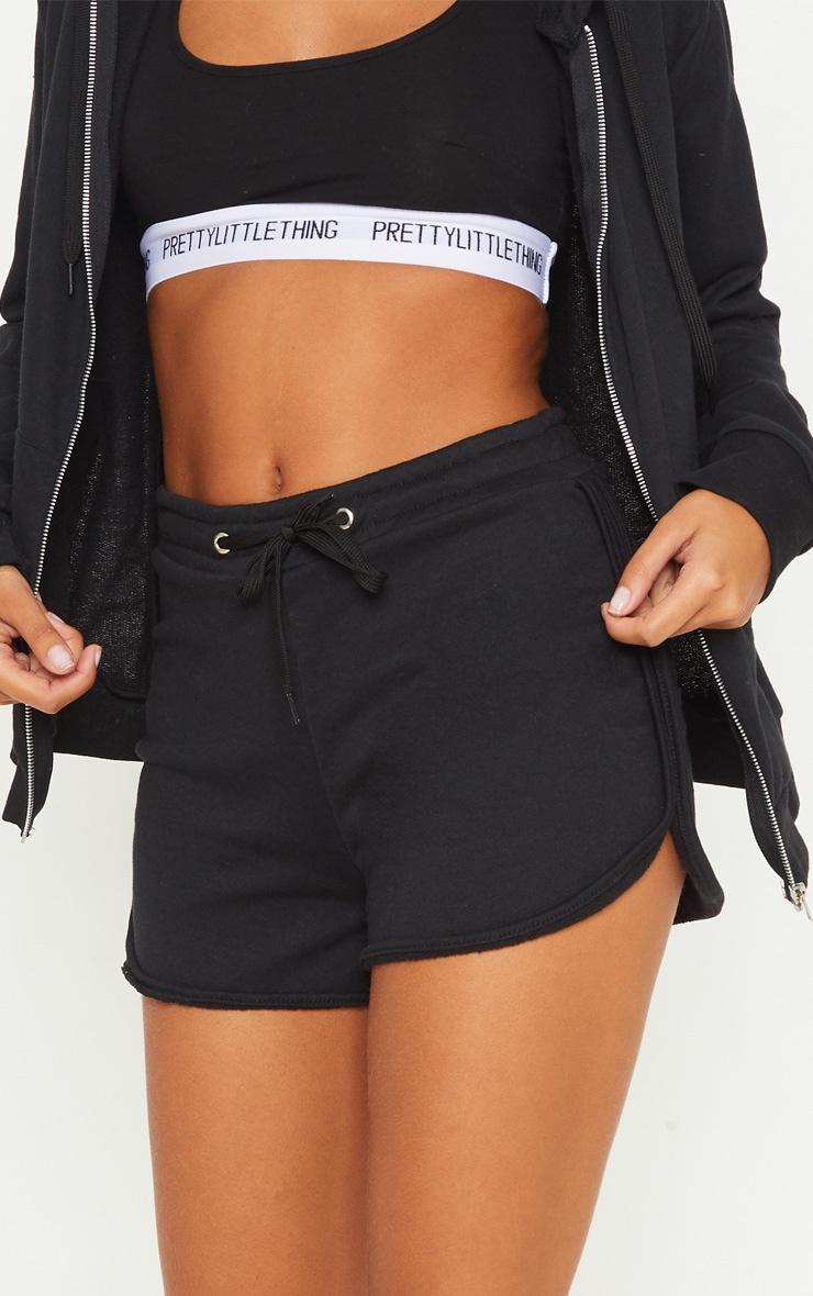 Black Basic Gym Sweat Short 6
