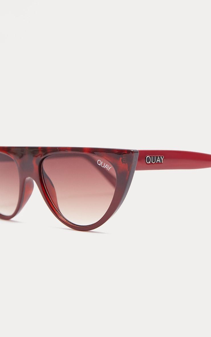 QUAY AUSTRALIA Red Black Runaway Half Frame Sunglasses 3