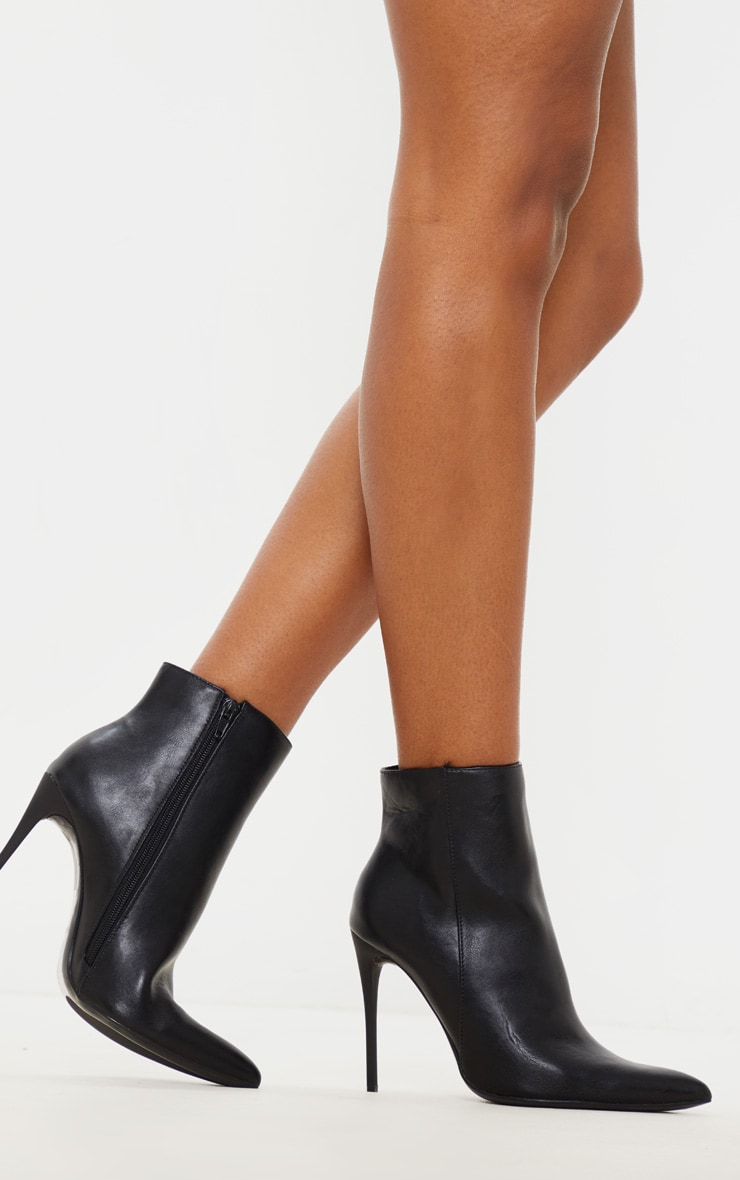 Black Point Toe Stiletto Heel Ankle Boot 3