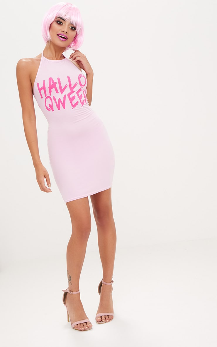Pink Jersey Hallo Qween Bodycon Dress 4
