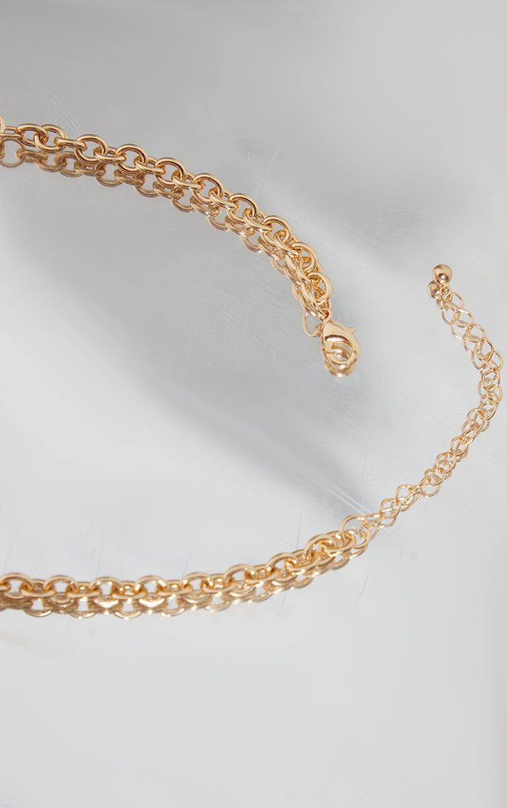 Gold Mesh Rope Chain Necklace 4