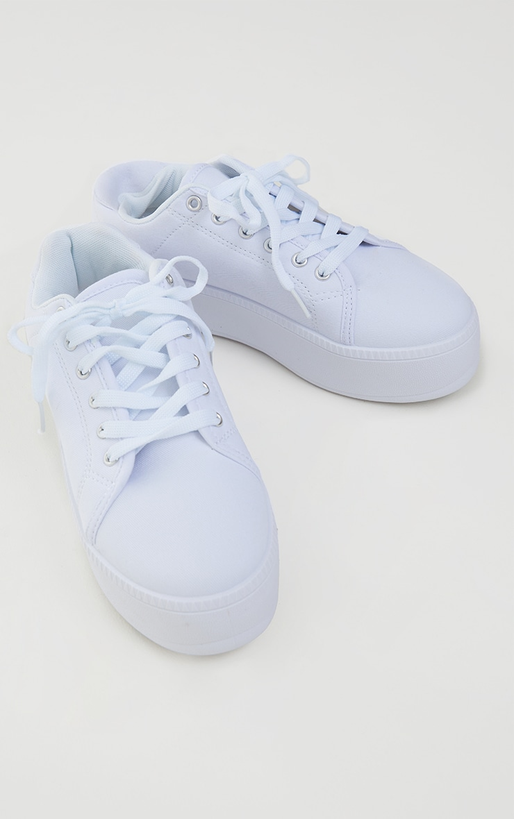 White PU Flatform Trainer 3