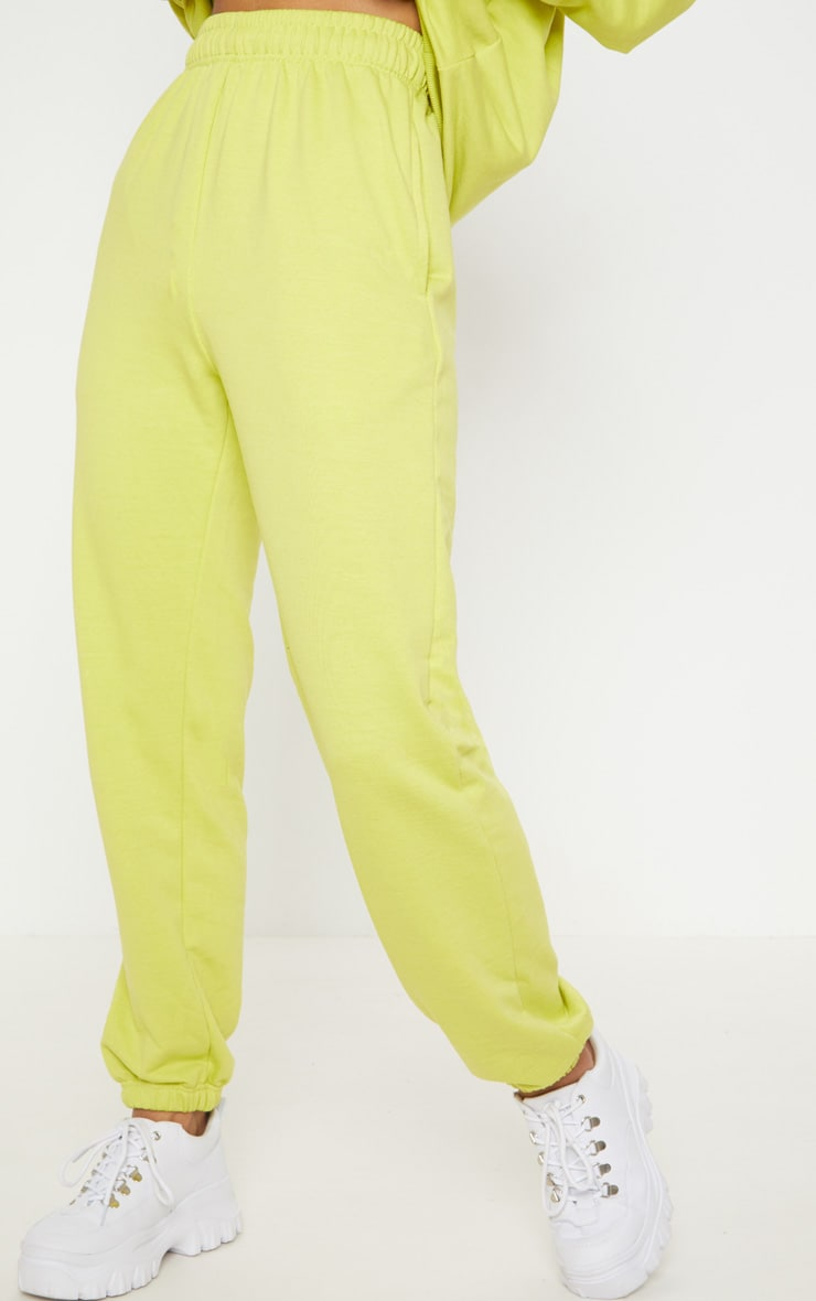 Neon Lime Casual Jogger 2