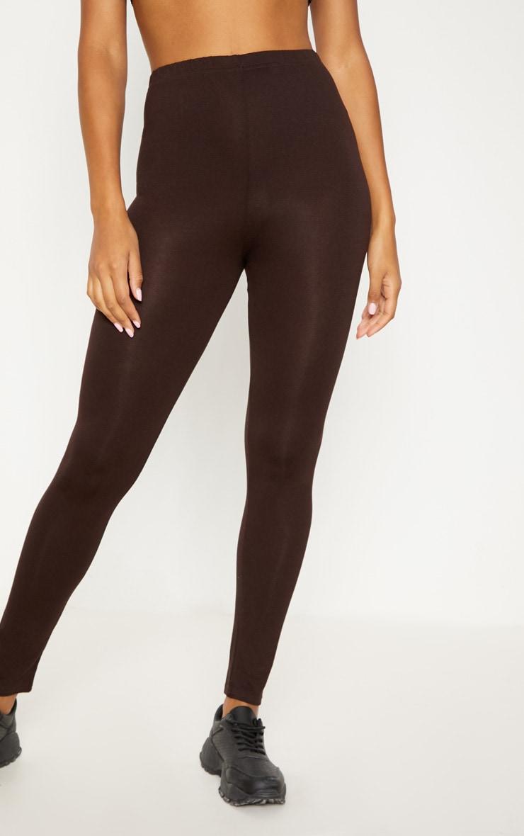 Brown Basic Jersey Legging   2
