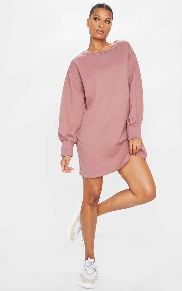 Dark Mauve Oversized Sweater Dress 3