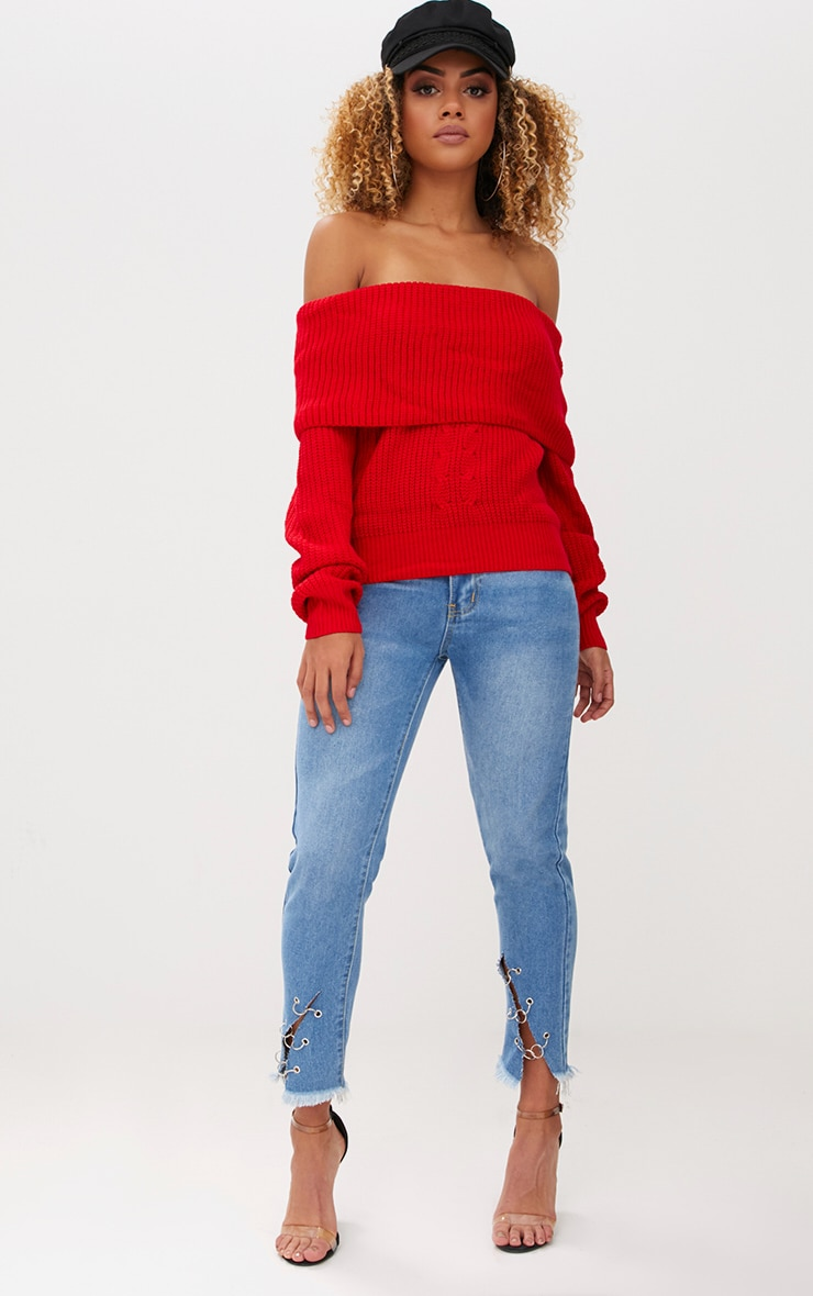 Red Bardot Tie Back Jumper 4
